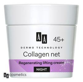 AA - Dermo Technology 45+ Regeneračný a liftingový NOČNÝ KRÉM s kolagénom a vitamínom E 50ml