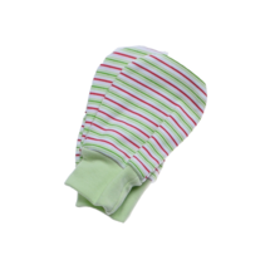 ANTONY FASHION - Kojenecké rukavičky (pásik -zelené)