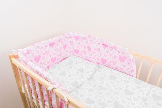 ANTONY FASHION - Mantinel (ružový) - Srdiečka, veľkosť: 175 cm x 30 cm
