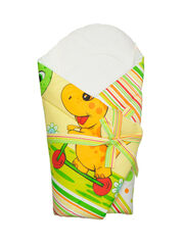 ANTONY FASHION - Zavinovačka s výstužou (zeleno-žltá) - Dino - veľkosť: 70x70 (cm)