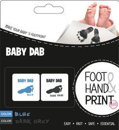 BABY DAB - Farba na detské odtlačky 2ks modrá, šedá
