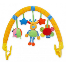 BABY MIX - Oblúk s hračkami ku kočíku - Žirafa