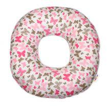 BABY NELLYS - Popôrodný vankúš malý - Motýliky ružový
