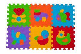 BABYONO - Puzzle penové zvieratá 6ks, 6m+
