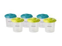 BEABA - Skladovacie tégliky na jedlo 6 x 200 ml