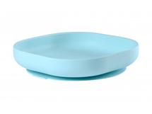 BEABA - Tanier silikónový s prísavkou Blue