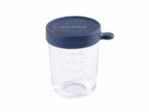 BEABA - Téglik na jedlo sklenený 250ml tmavo modrý