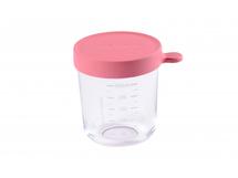 BEABA - Téglik na jedlo sklenený 250ml tmavo ružový