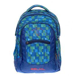 BELMIL - BelMil školský batoh 338-27 Green Blue + vrece na prezúvky
