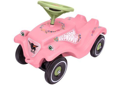 BIG - Auto Odrážadlo Big Bobby Car Classic Ružové S Kvetinkami