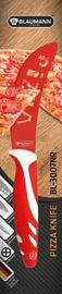 BLAUMANN - Nôž na pizzu čepeľ 11 cm červený,BL-3007NR