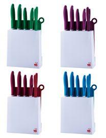 BLAUMANN - Sada 4 nože, 1 nožničky a stojan, BL-1341