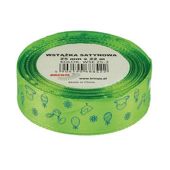 BREWIS - Stuha atlasová - veľkonočná - svetlo zelená 25mm x 22m