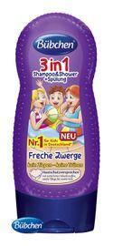 BÜBCHEN - Kids sprchovací gél, šampón a ošetrujúci balzam na vlasy 3v1 Malí šibali 230 ml