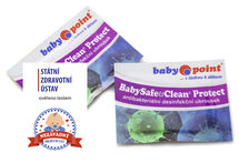 BABYPOINT - Dezinfekčné vlhčené utierky BabySafe & Clean Protect