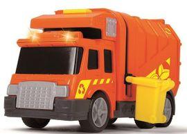 DICKIE TOYS - 3302000 Smetiarske auto 15 cm so svetlom a zvukom
