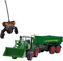 DICKIE TOYS - Traktor na diaľkové ovládanie s lyžicou a vozíkom