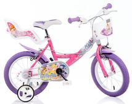 """DINO BIKES - Detský bicykel 16"""" Dino 164RWX Wings so sedačkou pre bábiku a košíkom"""