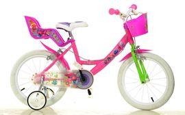 """DINO BIKES - Detský bicykel 164RTRO Trolls - 16"""" so sedačkou pre bábiku a košíkom"""