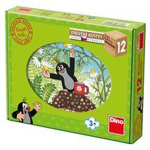 DINOTOYS - Drevené kocky Krtko a priatelia 12 ks