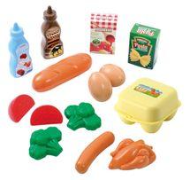 ECOIFFIER - Plastové hračky potraviny v sieťke