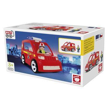 EFKO-KARTON - Igráček hasičské auto s hasičom 23218