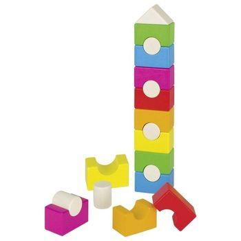GOKI - Farebná drevená veža - domček