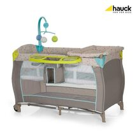 HAUCK - Detská postieľka Babycenter - Multi Dots sand 2018