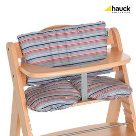 HAUCK - Podložka ku stoličkám Alpha  - Multi Stripe grey 2018