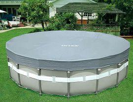 INTEX - krycia plachta na bazén okrúhla Deluxe s priemerom 488 cm 28040