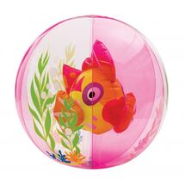 INTEX - nafukovacia lopta akvárium s rybkou - ružová