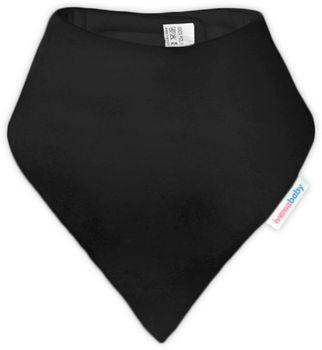IVEMA BABY - Bavlnená šatka / podbradník - čierna
