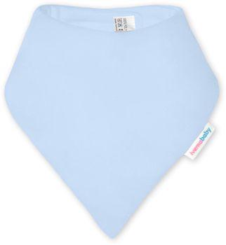 IVEMA BABY - Bavlnená šatka / podbradník - svetlo modrá