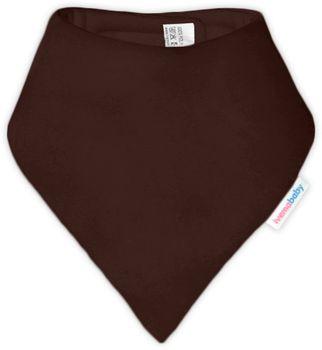 IVEMA BABY - Bavlnená šatka / podbradník - tmavo hnedá