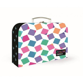 KARTON PP - Kufrík 34 cm Junior Premium - Cubes