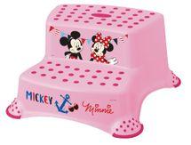 KEEEPER - Dvojstupienok k WC/umývadlu Mickey&Minnie - ružový