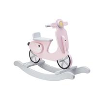 KIDS CONCEPT - Hojdací skúter drevený Pink White