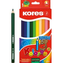 KORES - Pastelky Kolores Jumbo Trio 12 farieb