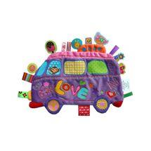 LABEL-LABEL - Školský autobus, fialový