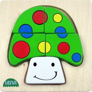 LENA - Drevené puzzle Hríb 32138