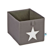 LOVE IT STORE IT - Malý box na hračky - šedý, biela hviezda