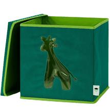 LOVE IT STORE IT - Úložný box na hračky s krytom a okienkom - žirafa
