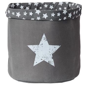 LOVE IT STORE IT - Veľký úložný box na hračky, okrúhly - šedý, Vintage Star