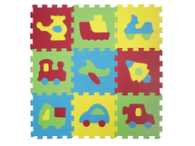 LUDI - Puzzle penové 84x84 cm dopravné prostriedky