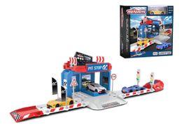 MAJORETTE - Creatix Pitstop Vision Gran Turismo + 1 Autíčko