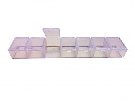 MAKRO - Dóza na lieky 7-dielna, obdĺžnik