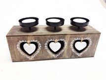 MAKRO - Svietnik na 3 čajové sviečky