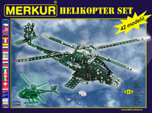 MERKUR - Stavebnica Helikopter set