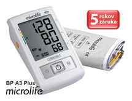 MICROLIFE - BP A3 Plus PC automatický tlakomer na rameno