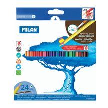 MILAN - Pastelky akvarelové 24ks so štetcom